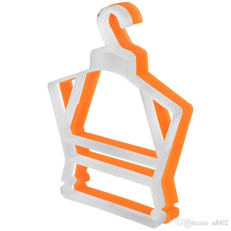 Conjoined Clothes Rack Children Kids Baby Coat Hanger Non Slip For Multi Colors Plastic Hangers 0 58mj C R