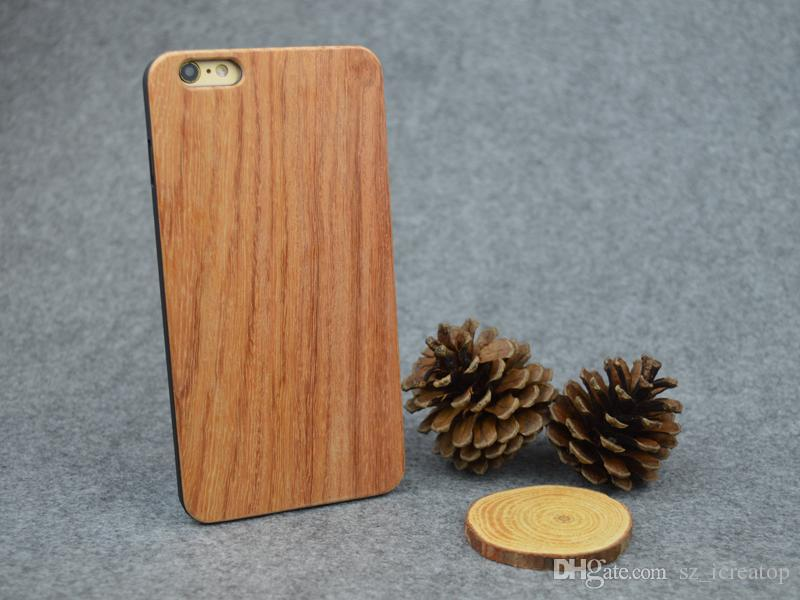 Myanmar Pear Wood Phone Case Protection de l'environnement Individualité Parfum Durable DIY Mode Nature Protection dure pour iPhone 6 Plus