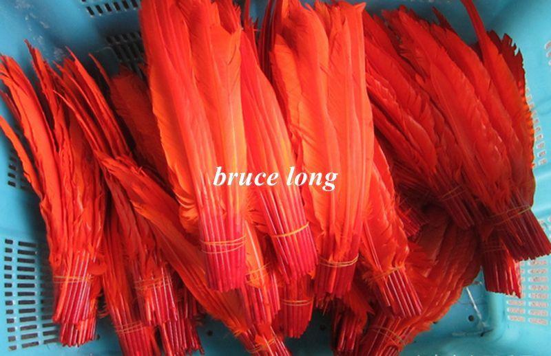 Plumas de ganso blanco plumas de pavo joyas artesanales sombrero máscara decoración pluma 100 unids 20-30 cm