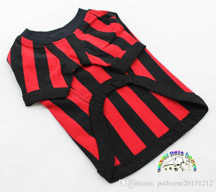CA017 Clothing For Small Dogs Summer Style Cotton Puppy Dog Clothes Yorkies T-shirts Dog Soccer Jersey