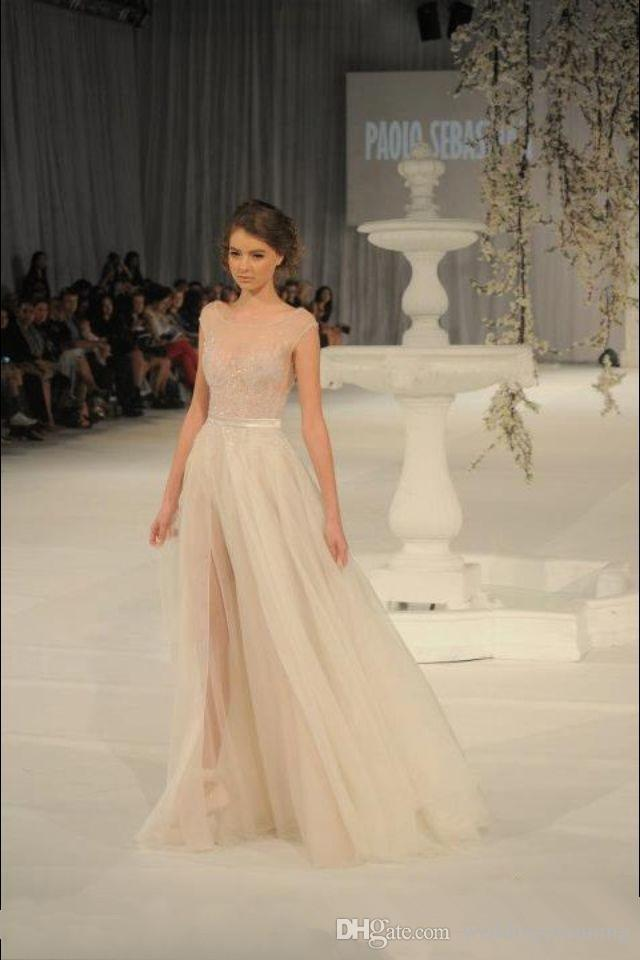Elie Saab Evening Dress Sheer Backless Evening Gowns Cap Sleeve Beaded Embroidery Long Tulle Prom Dresses with Side Slit