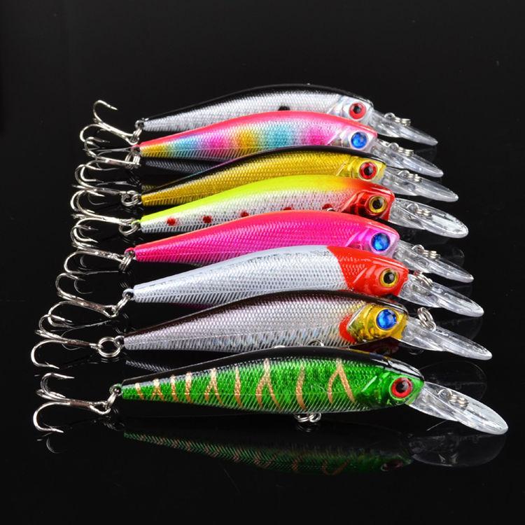 ABS بلاسيتك أسماك الليزر الصيد إغراء 9.36g 10CM المياه العذبة PESCA السحر الأسماك المتذبذب ISCA اصطناعية الطعم الثابت