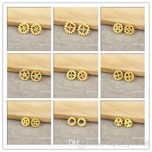 Mix Moda steampunk Dişli alaşım Charm Kolye Altın İzle Aksesuarlar DIY Takı aksesuarları 180 adet /