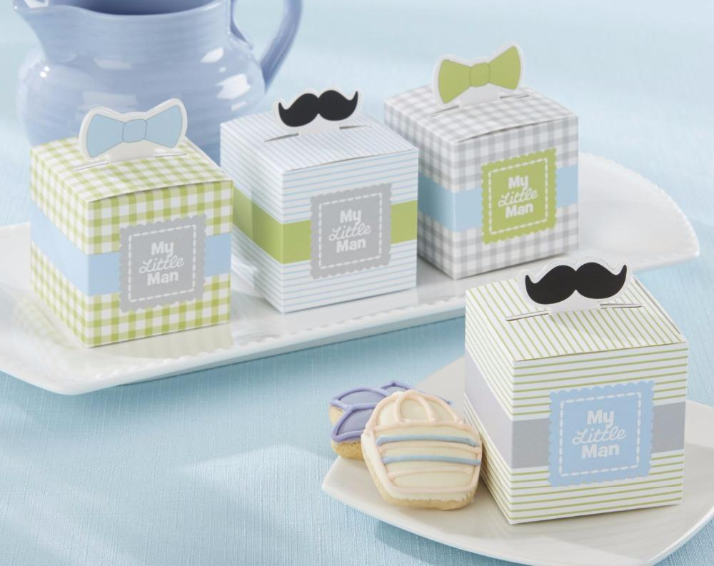 Baby Shower Favor Box Moustaches Cupcake Box Candy Box Birthday ...