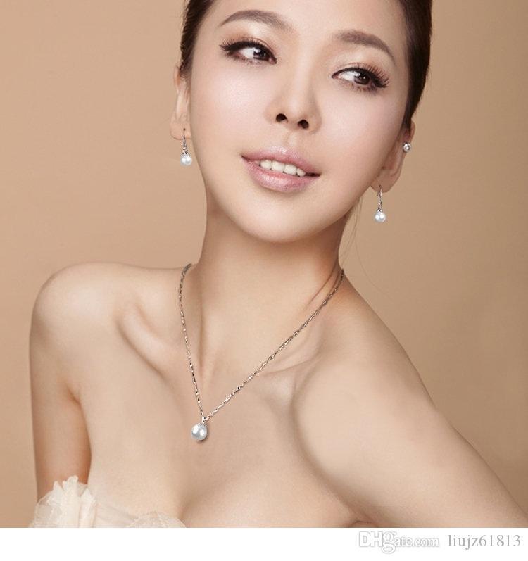 925 argent sterling Cubic Zirconia boucles d'oreilles de haute qualité unique perle simple luxe femme bijoux de mode