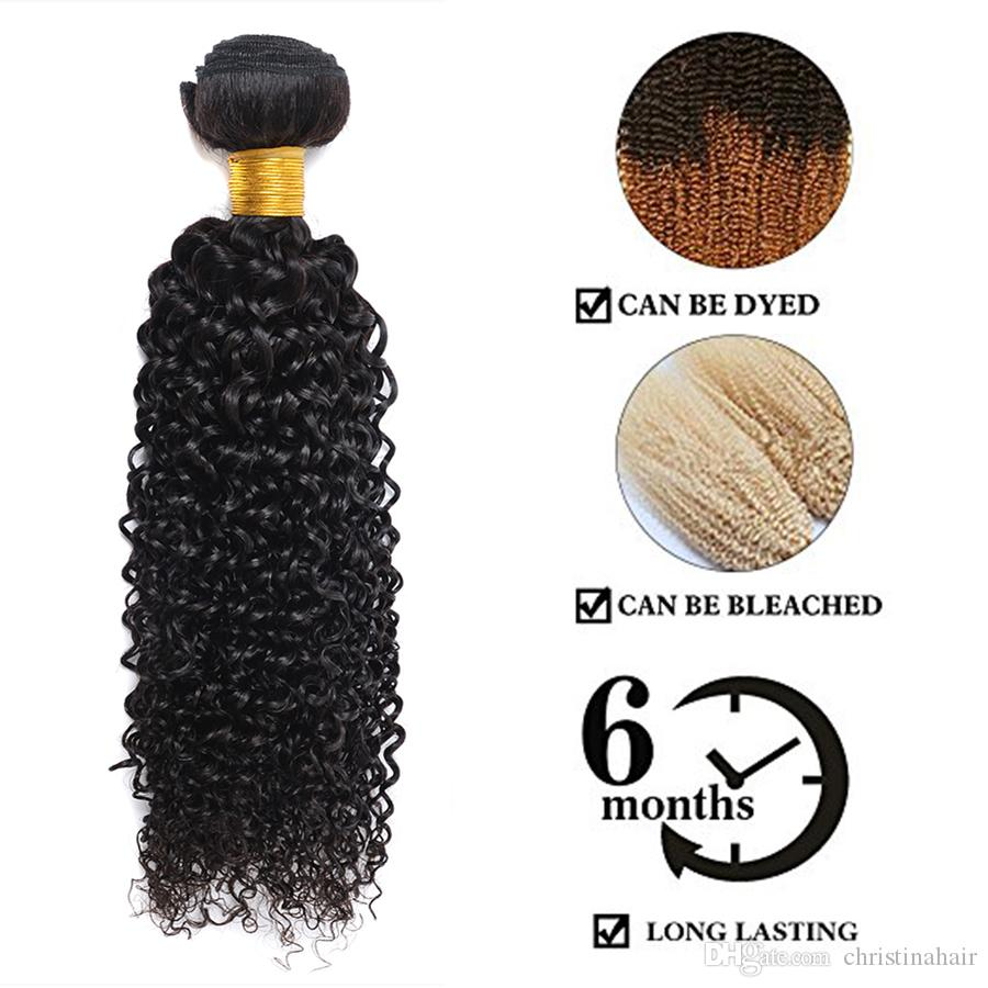 Brazilian Curly Human Hair Weaves 3 Bundles Unprocessed 8A Peruvian Malaysian Indian Cambodian Mongolian Jerry Kinky Curls Hair Extensions