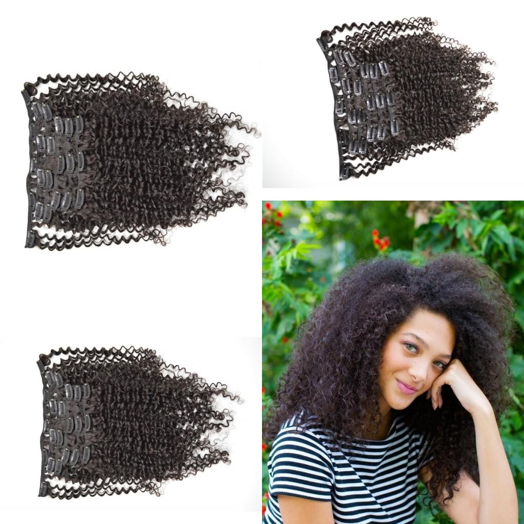 2017 Best Selling Burmese Virgin Hair Clip In Human Hair Extensions Full head Set NATURAL BLACK Free Shipping Clip In Human Hair G-EASY