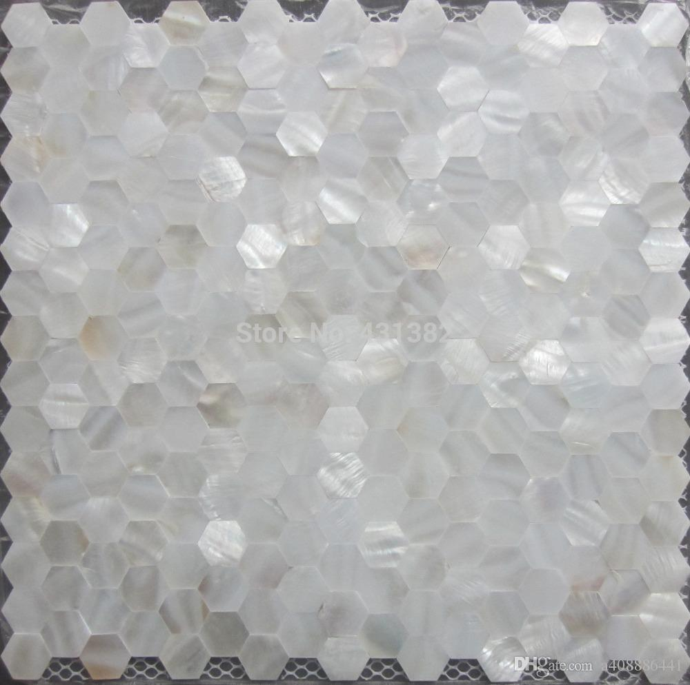 Online Cheap Mother Of Pearl Tile Hexagon Seamless On Mesh 20mm ...
