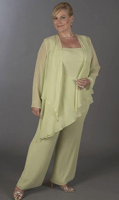 Chiffon Plus Size Mother of the Bride Pant Suits With Jacket vestidos para madre de la novia largos Women Formal Evening Pant Suits