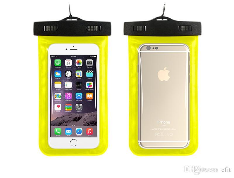 Case Cover in PVC impermeabile subacquea IPX8 caso di nuotata del bracciale del sacchetto di tracolla iPhone 4 6 5S 5.5 Inoltre galassia S6 S5 4 S3 HTC LG Telefono universale