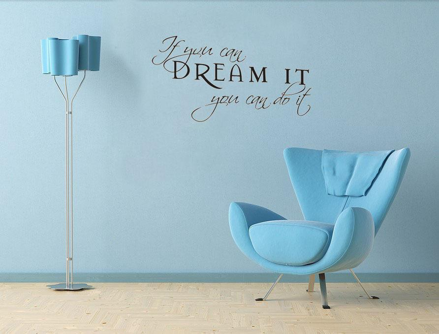 If you can dream it you can do it wall decals vinyl stickers home decor living room decoration wallpaper quote wall art vinyl decals wall art vinyl stickers