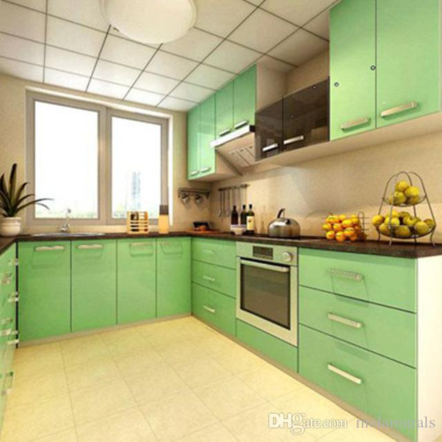 Modern Kitchen Cupboard Cabinet Self Adhesive Wallpapers Roll Vinyl ...