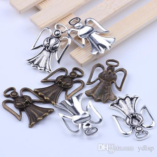 2016 Venda Quente de Prata / Cobre retro Pingente de Anjo Fabricação DIY jóias pingente fit Colar ou Pulseiras charme 15 pçs / lote 2071y