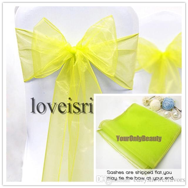 "Wholesale-Silver 8"" 20cm W x 108"" 275cm L Sheer Organza Sashes Wedding Party Banquet Chair Organza Sash Bow--Hot Sale"