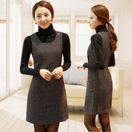 Elegant Winter Bottoming Dresses Winter Woolen Dress Sleeveless