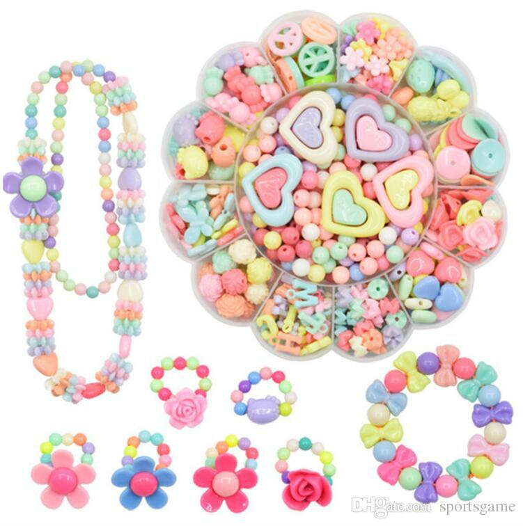 Fashion Toys For Girl Colorful Toy Diy Bracelet Toys Jewelry Making Kids Set Acrylic Educational 3d Puzzle Beads Toys Puzzle Toys & Hobbies
