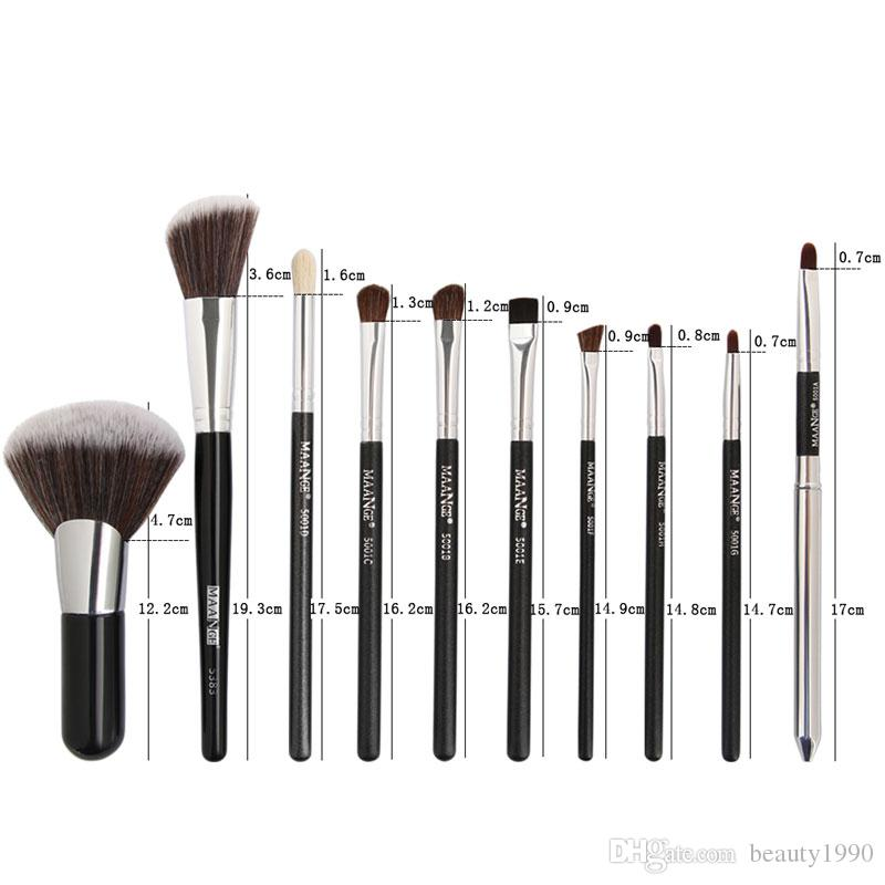 Makeup Brushes Set Blush Powder Eyeshadow Eyebrow Eyeliner Eyelash Concealer Lip Horse Hair Blending Make Up Cosmetic Brush Tool