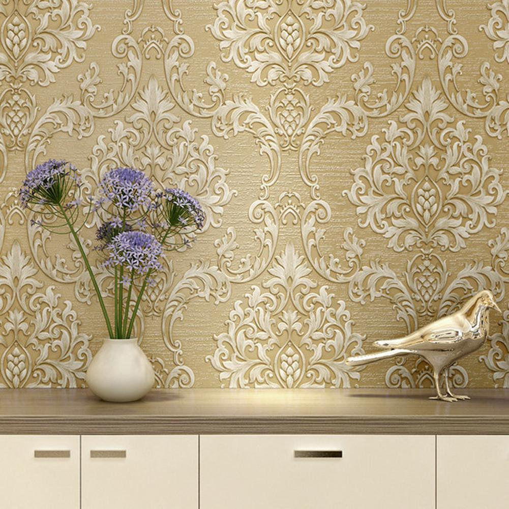 Luxury Home Decorative Pattern Wallpaper Non Woven Fabrics Wall