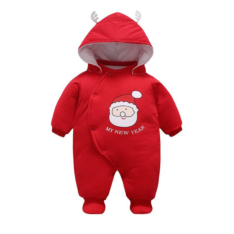 ba244d99f 59-80cm Christmas Santa Claus Winter Romper Red New Born Baby Boys Girl  Clothes New Year Thicken Cotton Coat Christmas Santa Claus Winter Romper  New Born ...