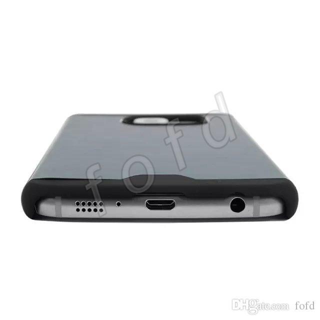 MOTOMO Métal PC Hybrid Case Motif Brossé Couverture Arrière Cas Nouveau Design Coloré Slim En Alliage D'aluminium pour Samsung S6 bord Free DHL