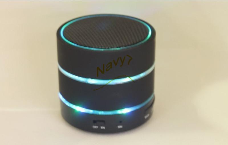 LED Speaker S09 Enhanced Speaker 3 LED Light Ring Super Bass Metal Mini Portable Beat Hi-Fi Bluetooth Handfree Mic Stereo USB Speakers New