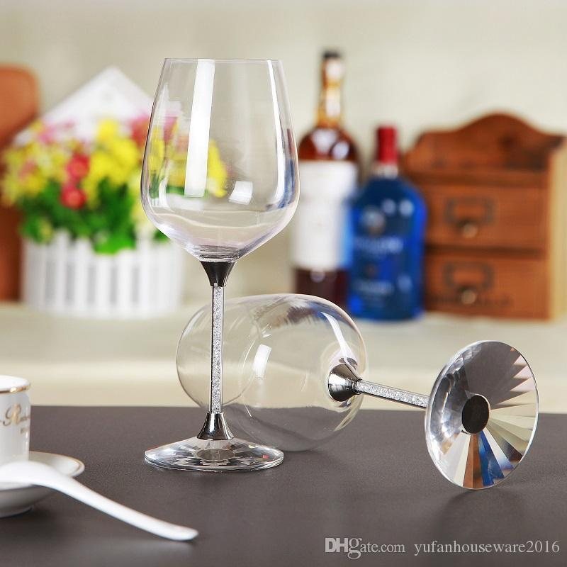 hot sales crystal toasting wine glasses set stemware wedding glass home and bar use drinking glass cup
