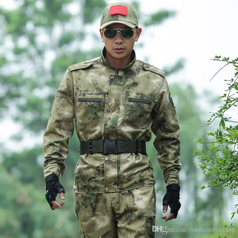 2018 men camouflage hunting clothes army uniform army
