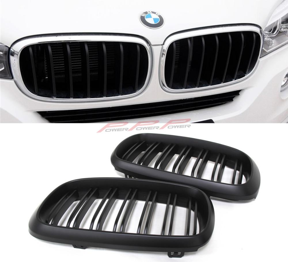 91cfcd163b2 Dual Slats Front Grille Matt Finish ABS Style For BMW X5 F15 X6 F16 2014  2015 Replacement Auto Parts Seat Covers From Hkshangcheng
