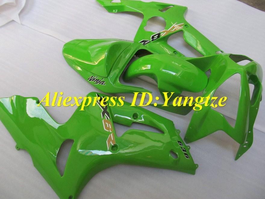 Motorcycle Fairing kit for KAWASAKI Ninja ZX6R 03 04 ZX6R 636 2003 2004 classical green ABS Fairings set