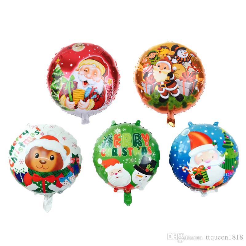 Frohe Weihnachten Schweiz.50 Stücke 18 Zoll Frohe Weihnachten Ballons Weihnachten Helium Folienballon Weihnachtsdekoration Aufblasbaren Ballon Party Supplies