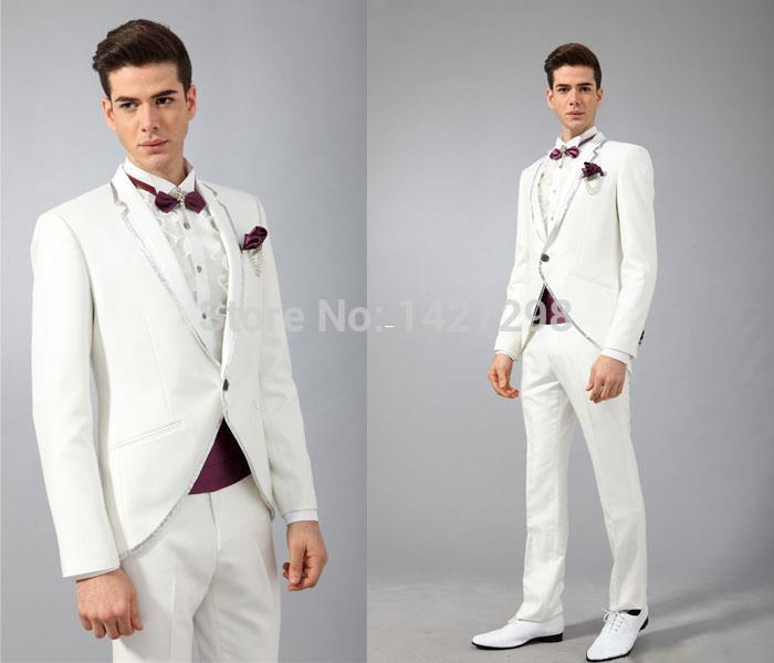 Wholesale Men Suit 2016 Groom Tuxedos Hot Sale Custom Suit Groom ...