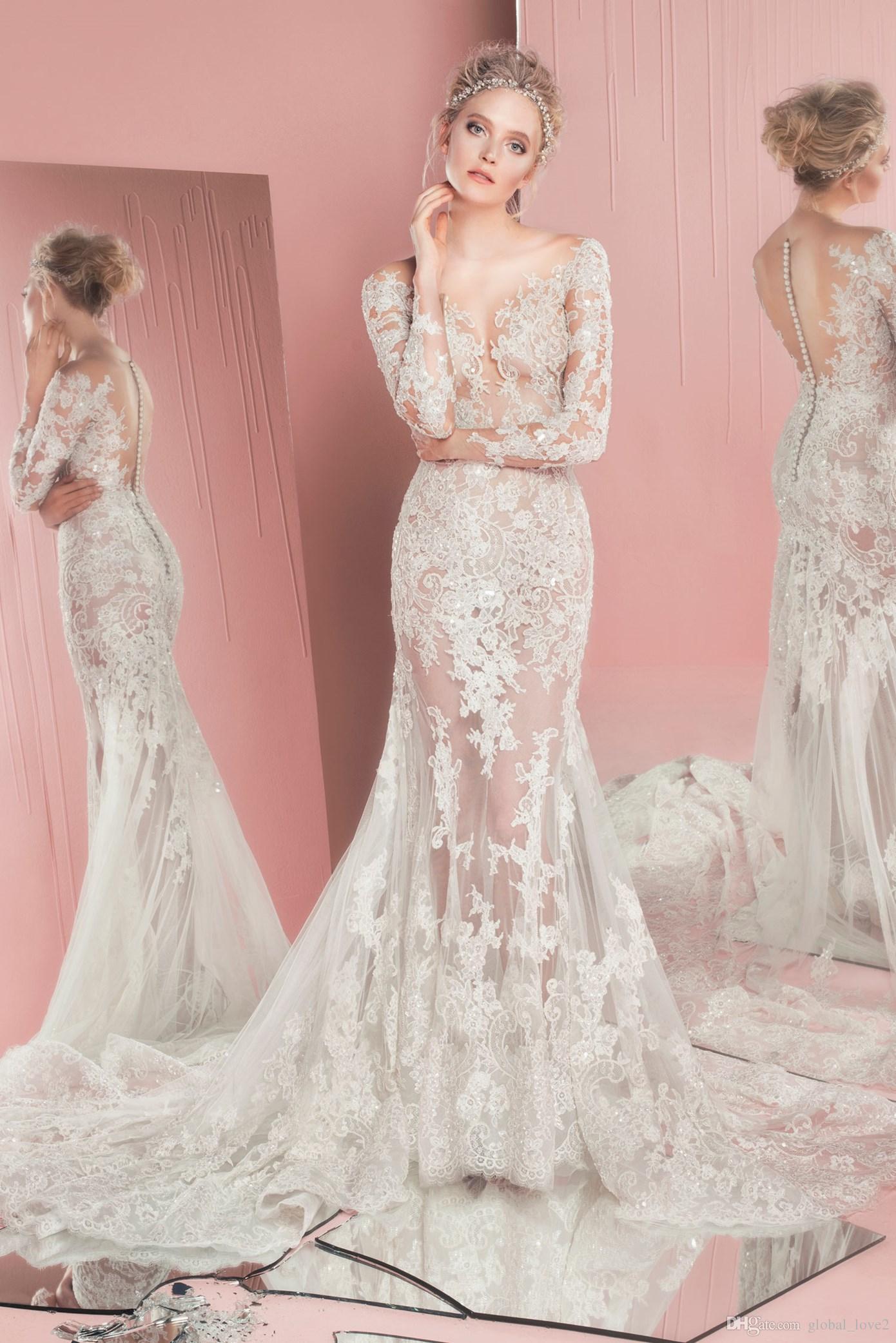 Compre Nuevo Zuhair Murad Vestidos De Novia Formal Sexy Lace Vintage ...