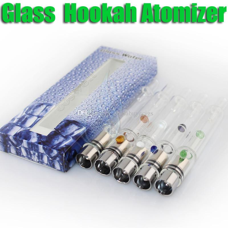New Pyrex Glass Hookah atomizer tank Dry Herb Wax Vaporizer herbal vaporizers pen water bong filter pipe cig e cigarette bongs atomizers DHL