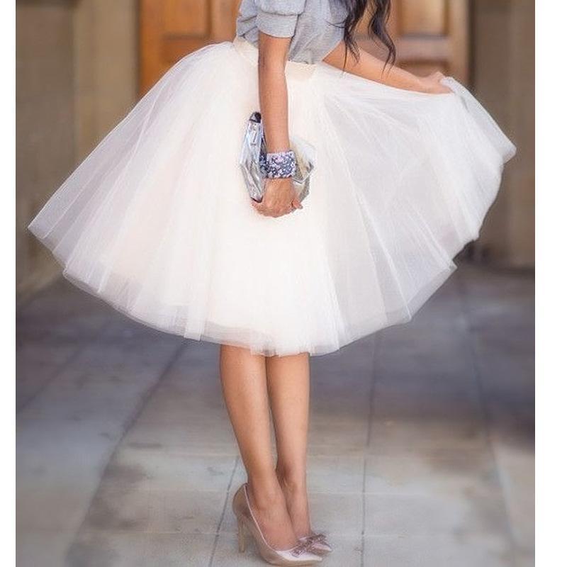 ea719fe8e2 2019 Wholesale Quality 5 Layers 65cm Summer Midi Tulle Skirt Fashion  Pleated TUTU Skirts Womens Lolita Petticoat Bridesmaids Jupe Saia Faldas  From Aprili