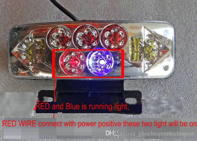 Tailight Bremslicht laufend Licht für elektrische Roller Fahrrad Motorrad Pedal Roller 48V60V Universal blinkende Lichtlampe