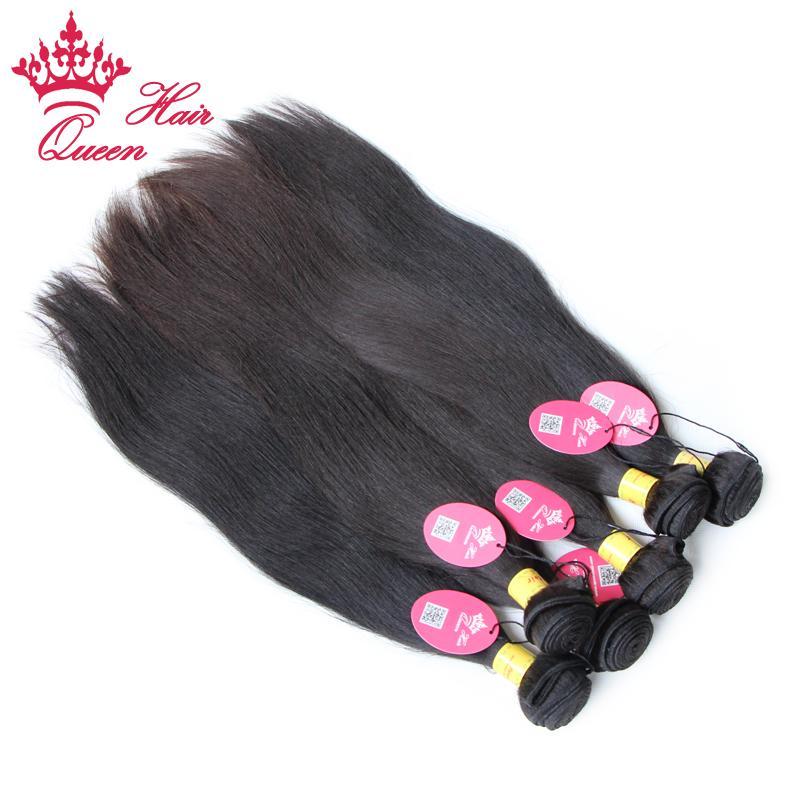 퀸 헤어 처리되지 않은 버진 머리 무료 배송 페루 인간의 / 스트레이트 헤어 확장, color1b #, 12