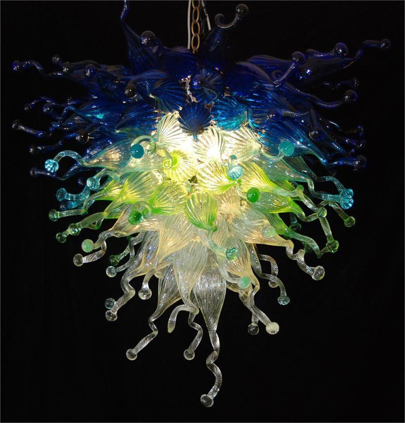 Landhaus-Dekoration-moderne Beleuchtungs-Kronleuchter 100% durchgebranntes Glas-Luftverschiffen Wechselstrom-geführte Birnen 120v / 240v großes Landhaus-Licht