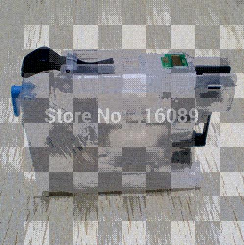 For Brother DCP-J4110DW J132W J152W J552DW J752DW printer LC123 LC127 LC125  refillable Ink cartridge with ARC chips