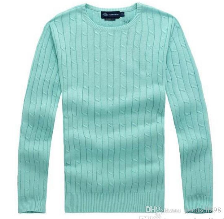 Livraison gratuite 2018 nouveau haute qualité mile wile polo marque hommes pull en tricot pull en coton pull pull pull petit cheval jeu