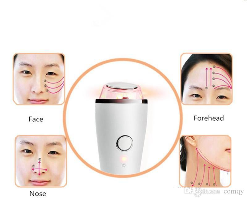 Ultrasonic Cold Hot Vibration SPA Face Eye Massager LED Photon Rechargeable Beauty Skin Care Anti Lines Wrinkles Portable Home Use