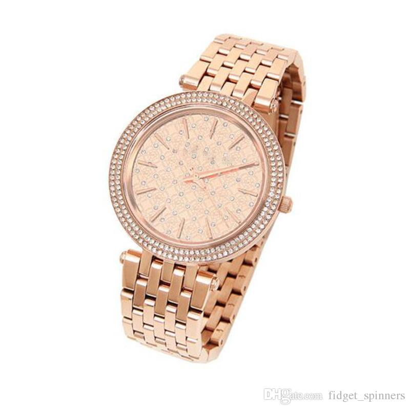 2018 New Fashion Steel ROSE GOLD Ladies Women's Watch With BOX and Certification 3399 Dial Watch