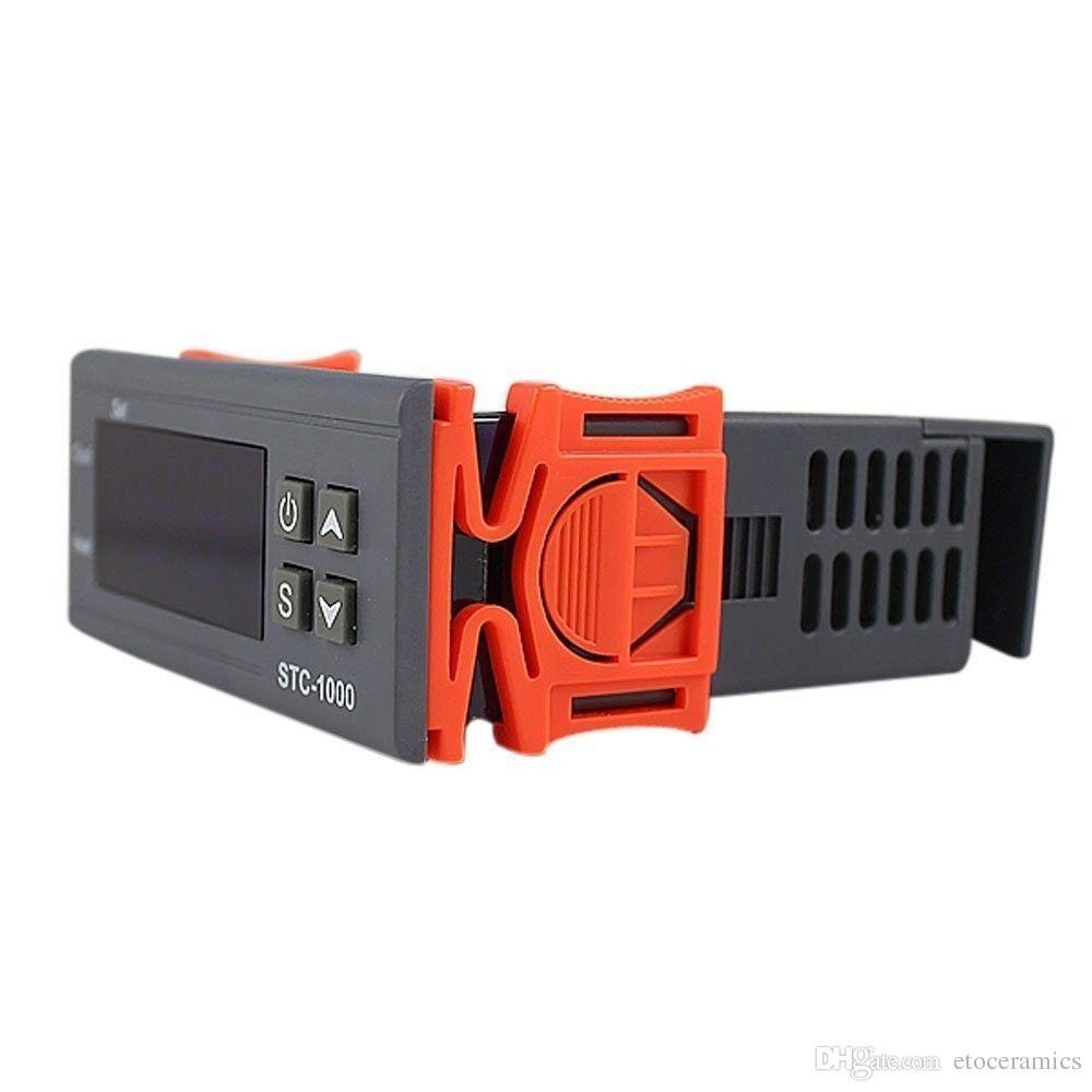 Universal -50-99 Degree STC-1000 Digital LCD Termostato Regulador regulador de temperatura Termostato w / Sensor AC 110V 220V 24V 12V 50