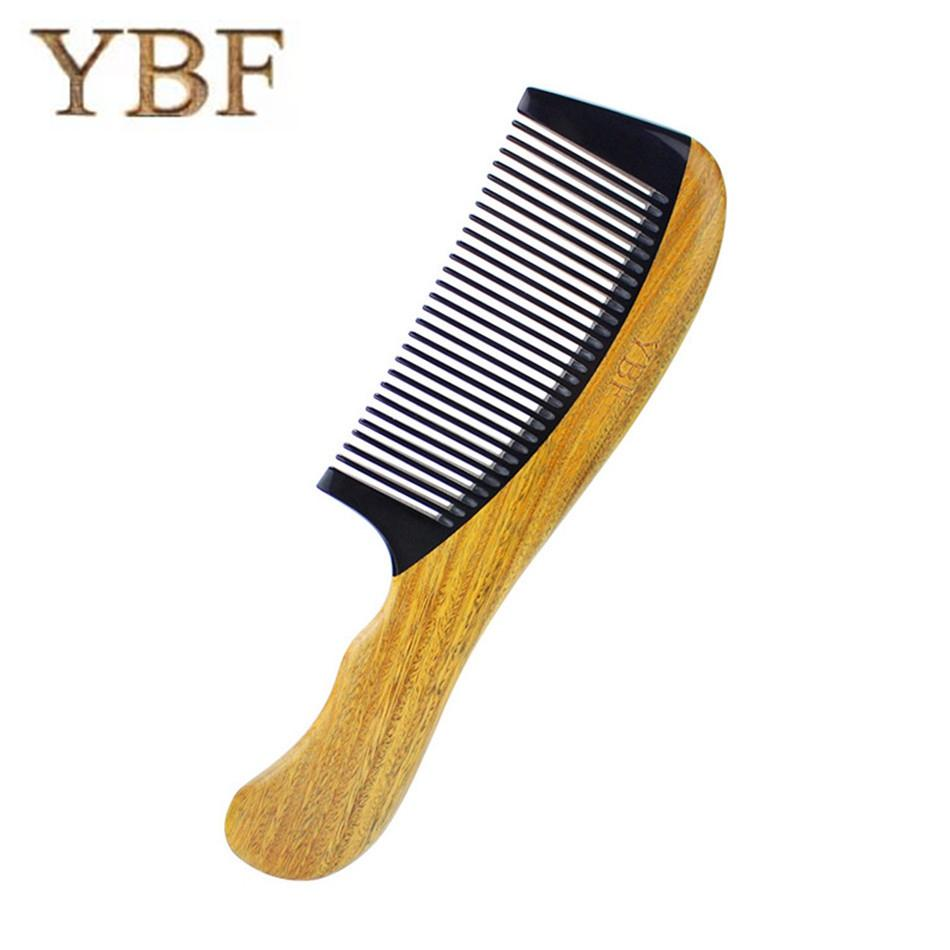 YBF Natural Green Sandalwood Cattle Horn Wood Hair Combs Makeup Brushes  Grooming Tools Cepillo Alisador French Brosse Lissante Professional Hair  Styling ... 8b03c761f0ac