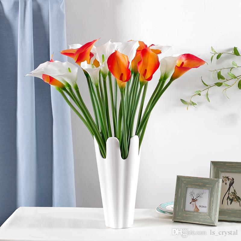 Artificial PU Calla Flor Multi colores Romántico regalo de boda Calla Lily decoración del partido para la venta SK601