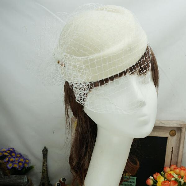 Ivory Red Black Vintage Multi Color Perfect Birdcage Headpiece Head Veil Wedding Bridal Accessories 2015 Bride Hat S-110
