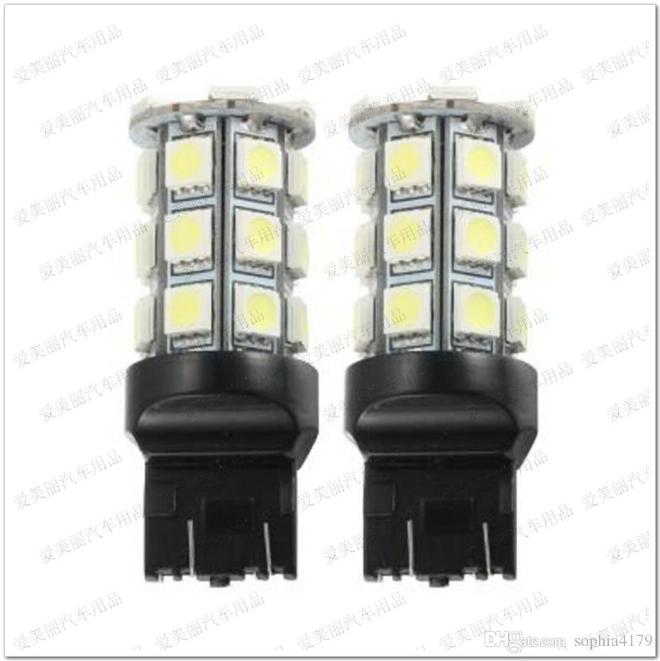Promotion 27LED 7440 7443 3156 3157 27 SMD 5050 27 LED auto tour clignotant frein lumière arrière ampoules lampe de sauvegarde arrière