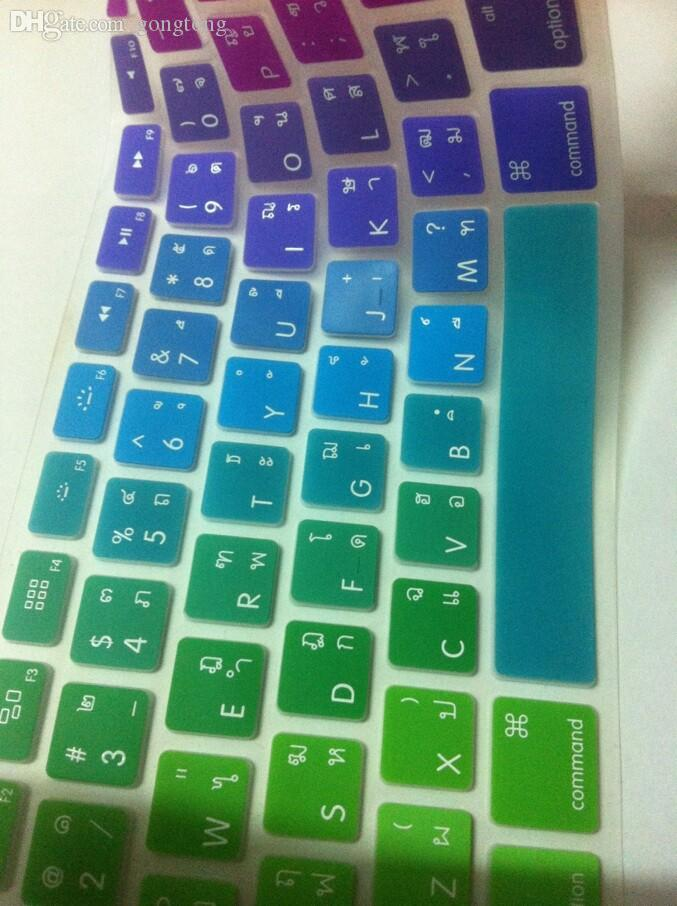 Wholesale-13 US Thai Rainbow Silicone Keyboard Protector Cover Skin ...