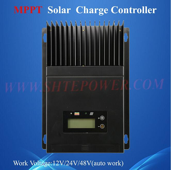 ce rohs approved builted in lcd auto work voltage 12v 24v 48v 60a solar charge controller mppt