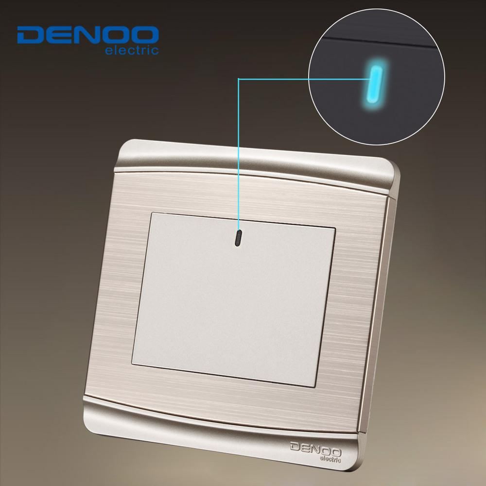 2018 Denoo Luxury Wall Switch Panel Led Light Tap 3 Switch110250v1 Gang 1 Way Smart Hometaste Life From Xu147258 15502