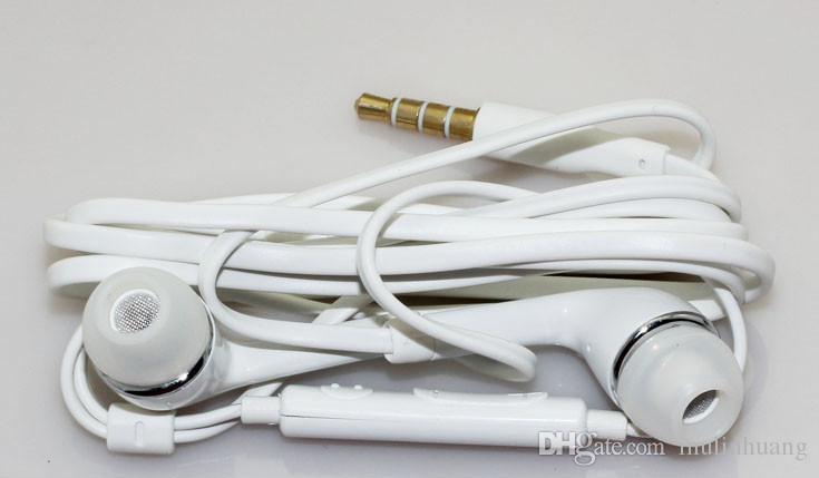 Um ++ boa qualidade j5 fone de ouvido estéreo de 3.5mm na orelha yss tpe plana macarrão fones de ouvido com controle remoto mic para samsung s4 s5 s6 nota mq1000